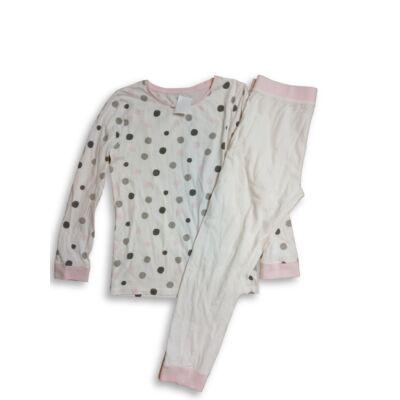 134-140-es fehér pöttyös pizsama - F&F