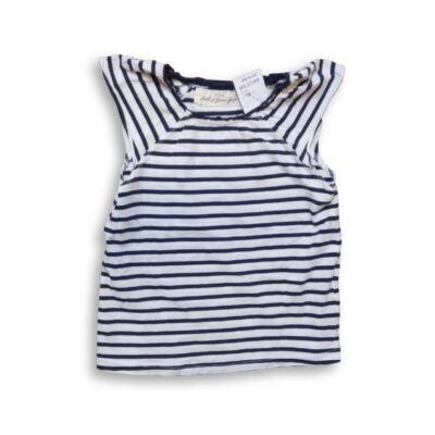 104-110-es fehér-kék csíkos póló - H&M