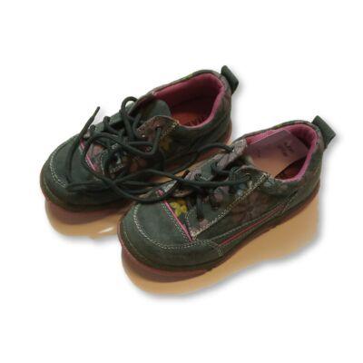 31-es zöld hasítottbőr félcipő lánynak - Haker