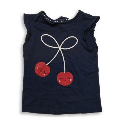 92-es kék cseresznyés ujjatlan póló - C&A
