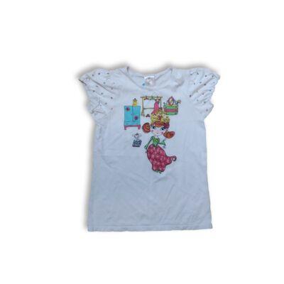 122-128-as fehér lányos póló - H&M