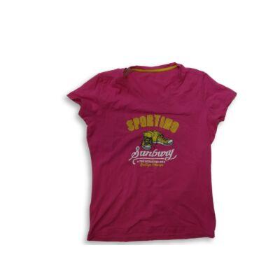 158-164-es rózsaszín cipős póló - TCM
