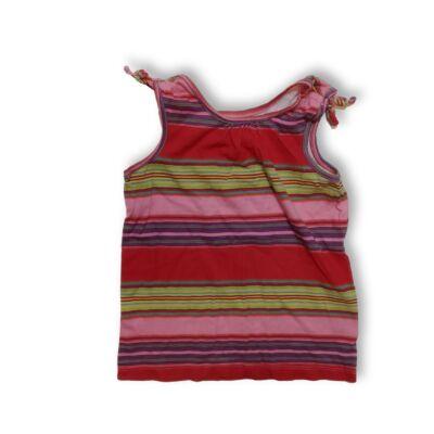 104-es piros-rózsaszín csíkos póló - GAP