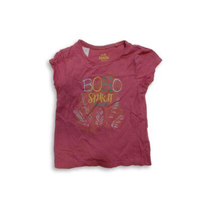 98-104-es rózsaszín feliratos póló - Lupilu