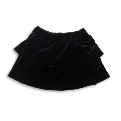 110-116-os fekete fodros bársony szoknya