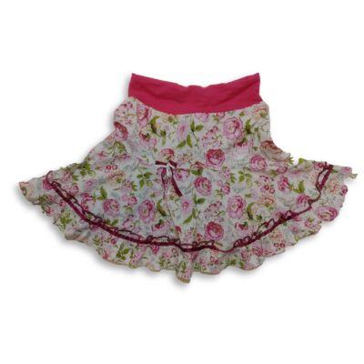 110-116-os rózsaszín virágos szoknya