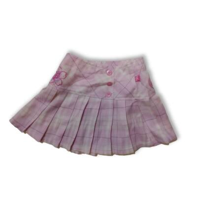 110-es rózsaszín kockás szoknya - Barbie