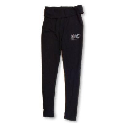 158-as fekete strasszköves leggings