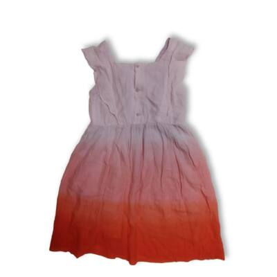 140-es rózsaszín-narancssárga ruha - Zara