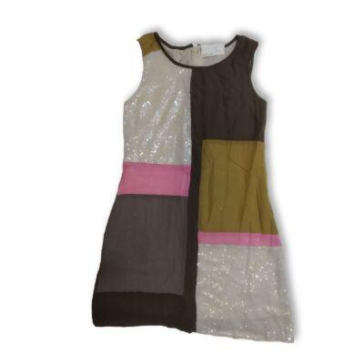 146-os barna-rózsaszín flitteres ruha - Next