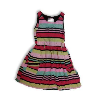 140-es színes csíkos ruha - H&M