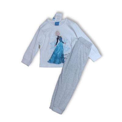 98-104-es fehér-szürke pizsama - Frozen, Jégvarázs - ÚJ