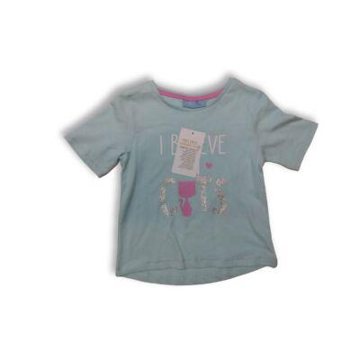 92-es kék cicás póló - Kiki & Koko - ÚJ