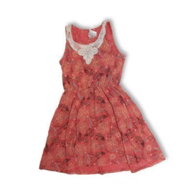 134-140-es piros mintás ruha - F&F