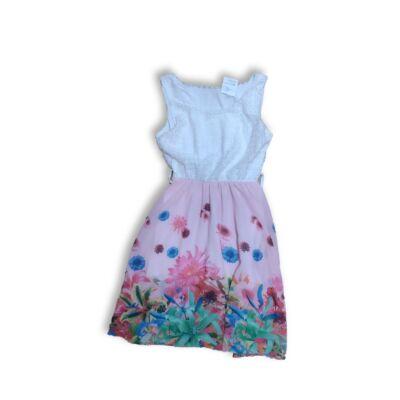 128-as fehér-rózsaszín virágos ruha