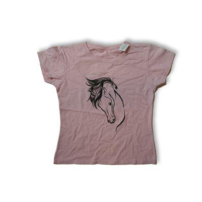 134-es rózsaszín lovas póló