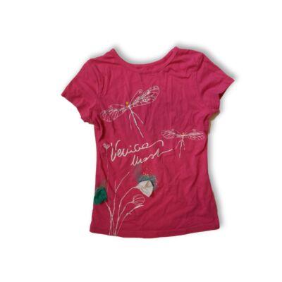 128-as pink szitakötős póló