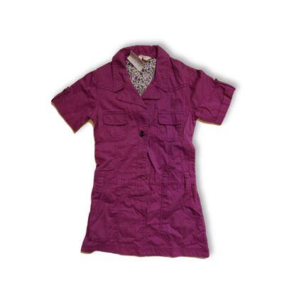 122-es lila vászonruha - Girl2Girl