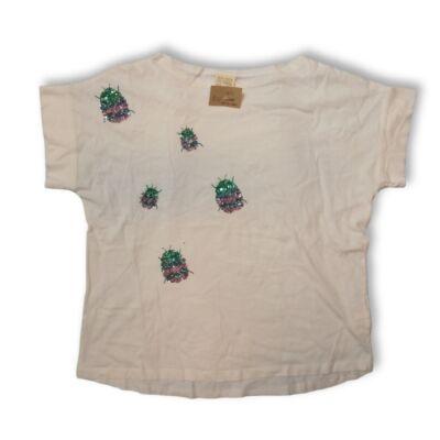 164-es fehér flitteres top jellegű póló - Zara
