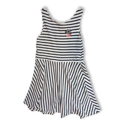 164-es fehér-fekete csíkos ujjatlan ruha - Zara
