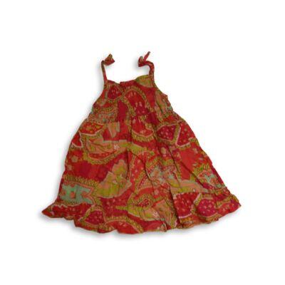 110-es piros mintás spagettipántos nyári ruha - Next