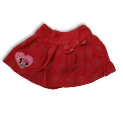 92-98-as piros kordszoknya - Minnie Egér - Disney - George