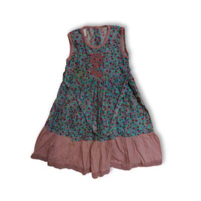 122-es kék-rózsaszín virágos ruha