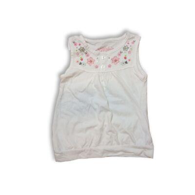 128-as fehér hímzett ujjatlan póló - Cherokee