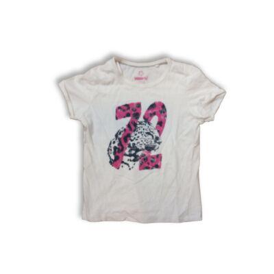122-128-as fehér leopárdos póló - Pepperts