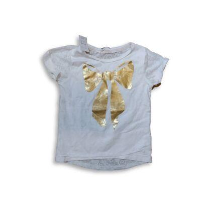 110-116-os fehér póló arany masnival - H&M