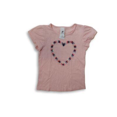 122-es rózsaszín rojtos-szivecskés póló - C&A