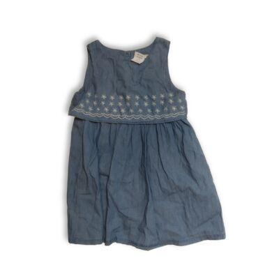 128-as kék hímzett puha farmerruha - Pepco