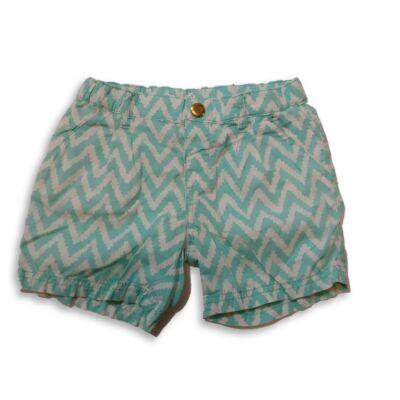 104-es zöld-fehér mintás lány vászon short - H&M