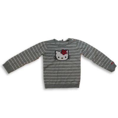 122-128-as szürke kötött pulóver - Hello Kitty