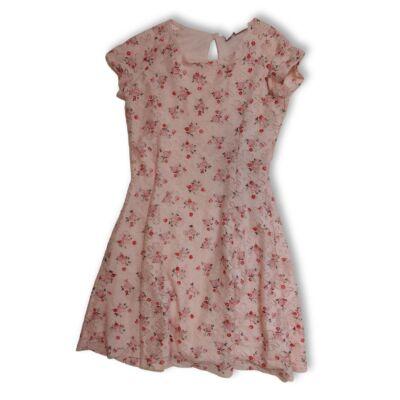 164-es rózsaszín virágos csipkés alkalmi ruha - Primark