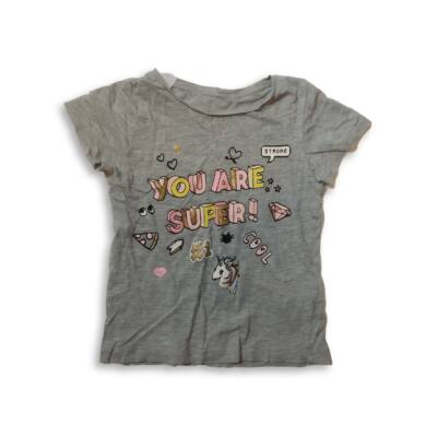 104-es szürke feliratos lány póló - H&M