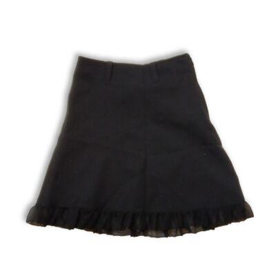 122-128-as fekete alkalmi szoknya, ünneplő szoknya