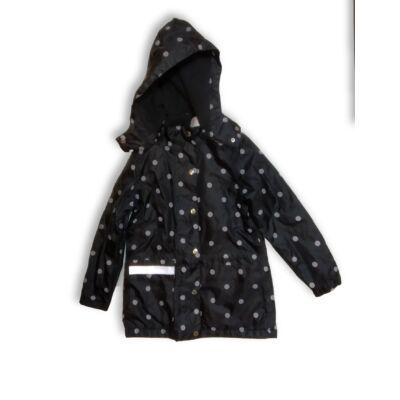 110-116-os fekete pöttyös átmeneti kabát - Pepperts