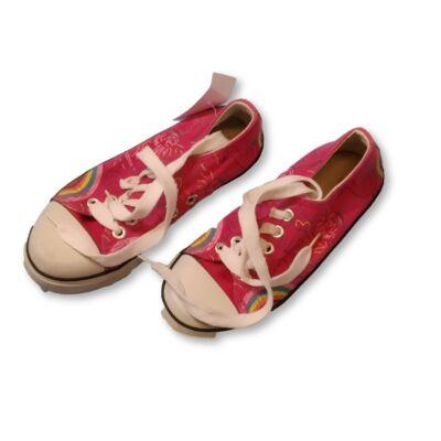 30-as rózsaszín mintás vászoncipő
