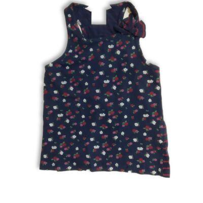 98-104-es kék virágos ujjatlan póló - H&M