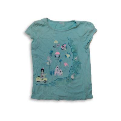 122-es kék mintás lány póló