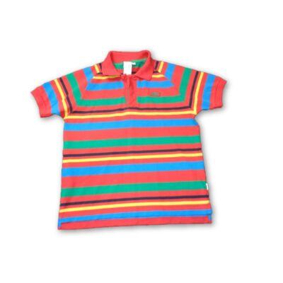 158-164-es színes csíkos piké póló - Lonsdale