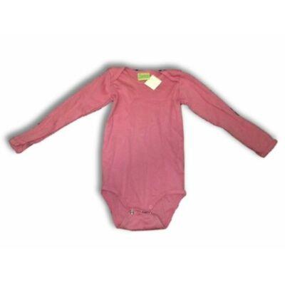 98-104-es rózsaszín hosszúujjú body - Impidimpi