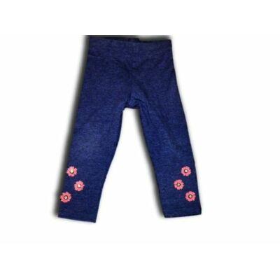 86-os sötétkék virágos leggings - F&F