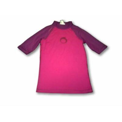 128-134-es rózsaszín-lila napozófelső -Tribord, Decathlon
