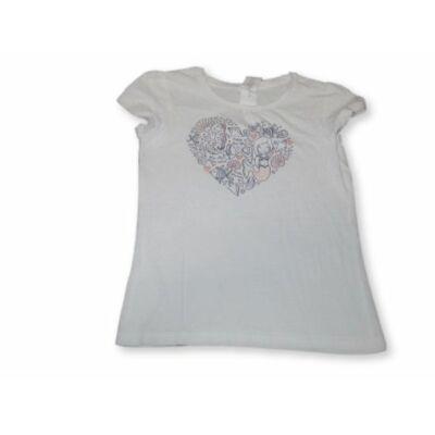 116-os fehér szivecskés póló - C&A