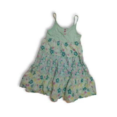 134-es zöld virágos ruha - F&F