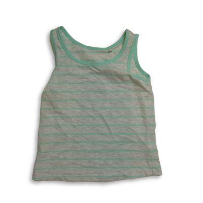 122-128-as szürke-zöld csíkos ujjatlan póló - C&A