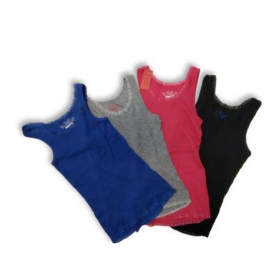134-140-es színes bordás ujjatlan pólók, 4 db egyben - Pepperts