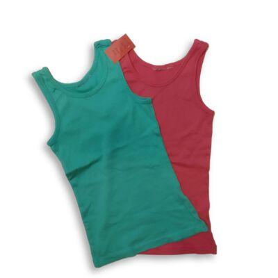 140-146-os színes bordás pólók, 2 db egyben